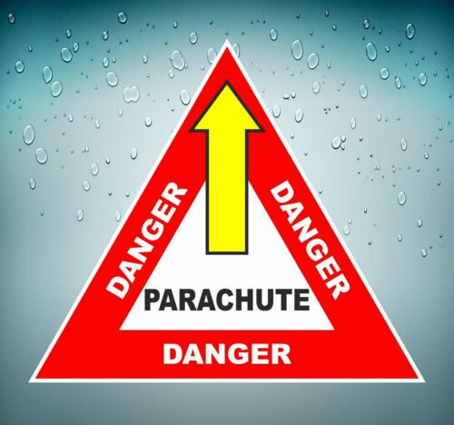 Autocollant sticker macbook voiture avion aviation aeroport parachute danger