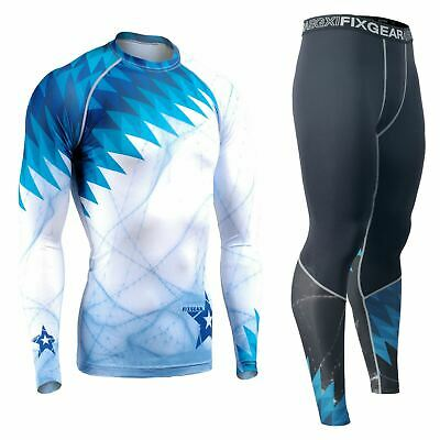 FIXGEAR Essentials Long Sleeve Compression Leggings SET  MMA BJJ Wrestling Gym