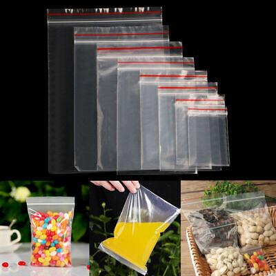 100 Grip Resealable Clear Plastic Seal Zip Lock Bags Poly Ziplock Bag Reclosable