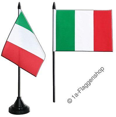 Tischflagge Italien italienische Tischfahne 10x15cm