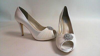 Nuevos Zapatos de boda: retoques-Blanco-Antonia-US 10M Reino Unido 8 #13R510