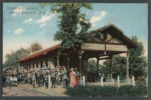 Hunter-NY-1907-Postcard-KAATERSKILL-STATION-South-Lake-Ulster-Delaware-Railroad
