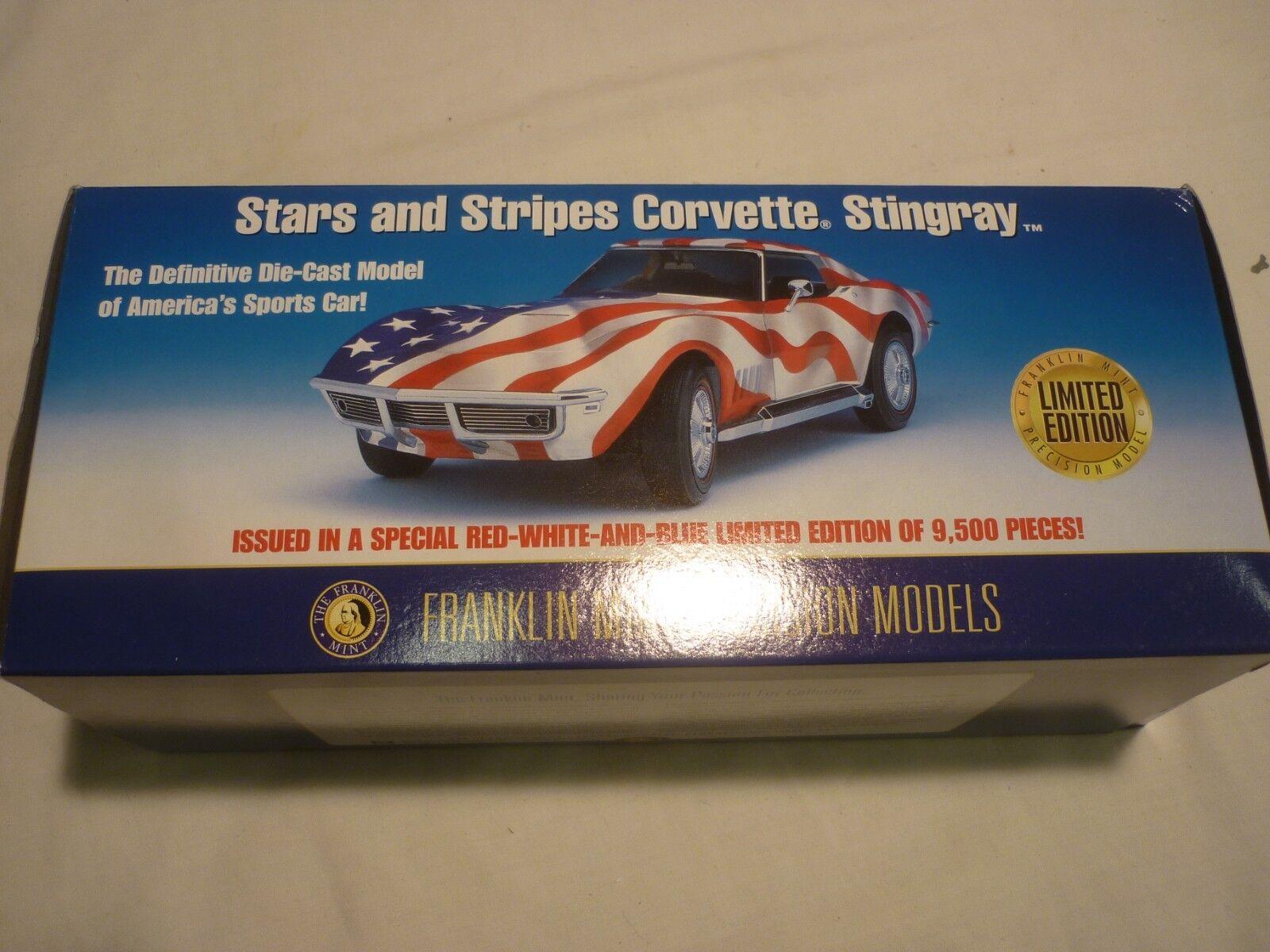 A la venta con descuento del 70%. Franklin Mint Escala Modelo de un 1969 1969 1969 Chevrolet Corvette  Estrellas & Stripes  en Caja  venderse como panqueques