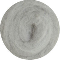 Carded Roving Wool Felting Spinning Craft Hand Spin Wet Needle Felt- Grey Silver