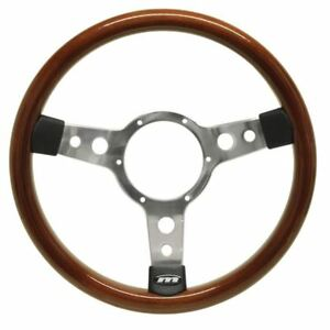 BEETLE-CABRIO-Steering-Wheel-13-5-034-Wood-Rim-Mountney-Traditional-Polished