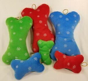 Blizzard-Bone-small-and-medium-stuffed-dog-toy-squeaker-Christmas-toys-B4