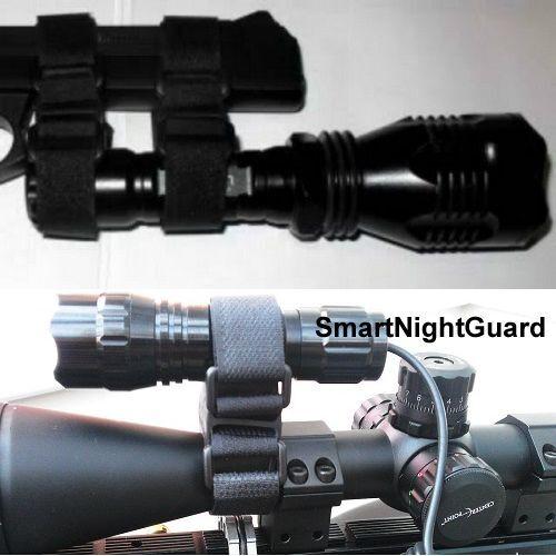 Rifle Scope Velcro Clamp Mount for SureFire Streamlight Nitecore XTAR Flashlight