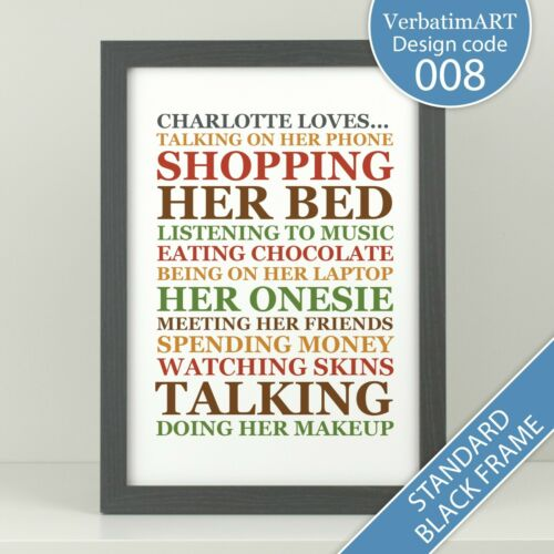 love list Personalised bucket list for him VA008 Birthday gift for her