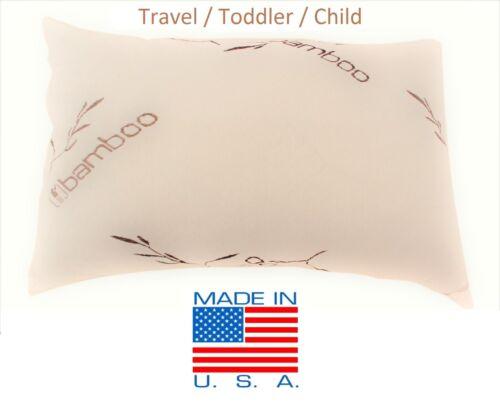 Bamboo Shredded Memory Foam Pillow,Made In USA,Queen,King,Standard,Travel