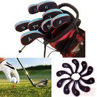 Blue Neoprene Zipper Sleeve Golf Club Iron Putter Driver Headcover Skin 10 Pack on sale