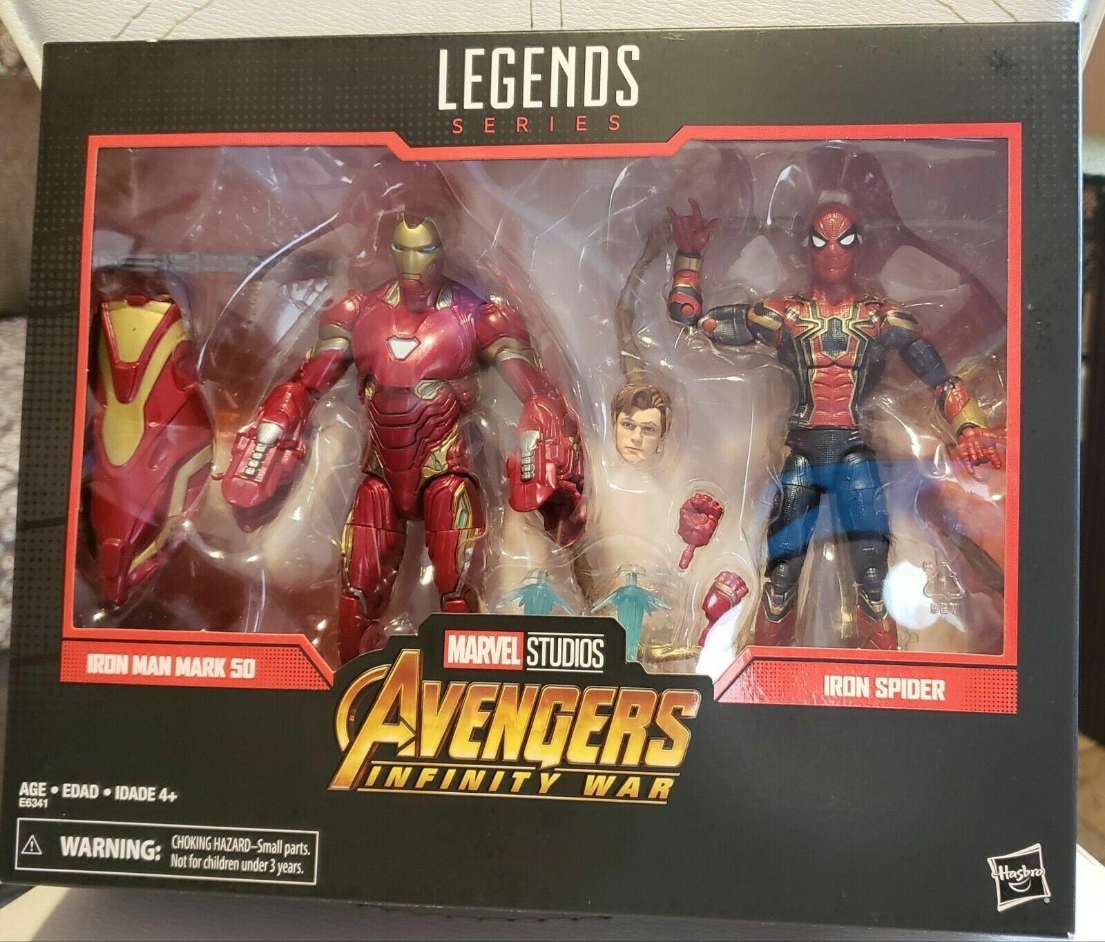 MARVEL Legends 80th ANNIVERSARIO Avengers Iron uomo Mark 50 & IRON SPIDER 2 PZ