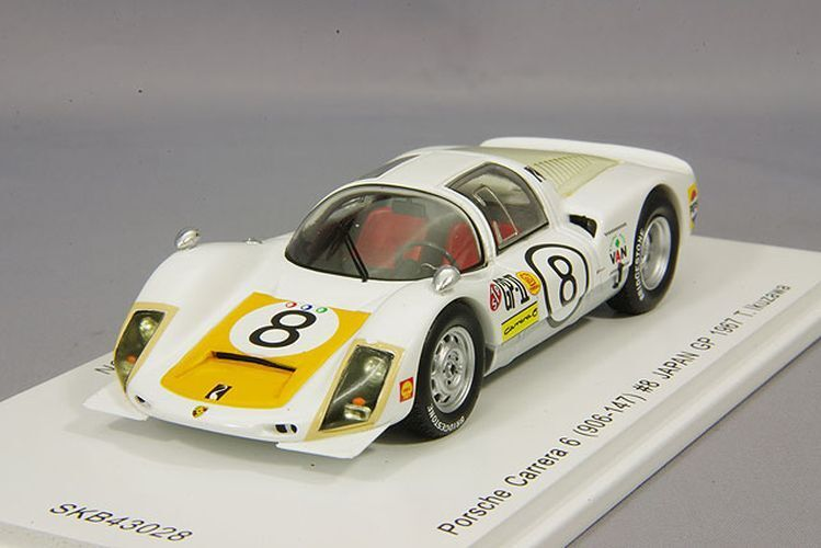 Spark 1 43 Porsche Carrera 6 906-120 1967 Japan GP Winner T. Ikusawa