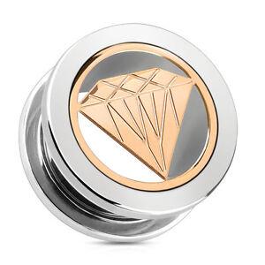 Nouveau 1 X Logo Bouchon D/'Oreille à Visser Flesh Tunnel Vendeur Anglais