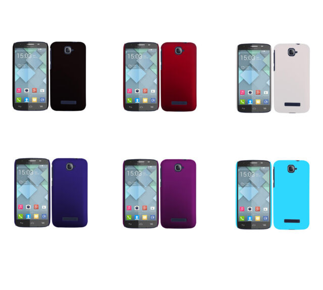 Hard Rubberized Matte Snap-On Cover Case for Alcatel One Touch POP S7