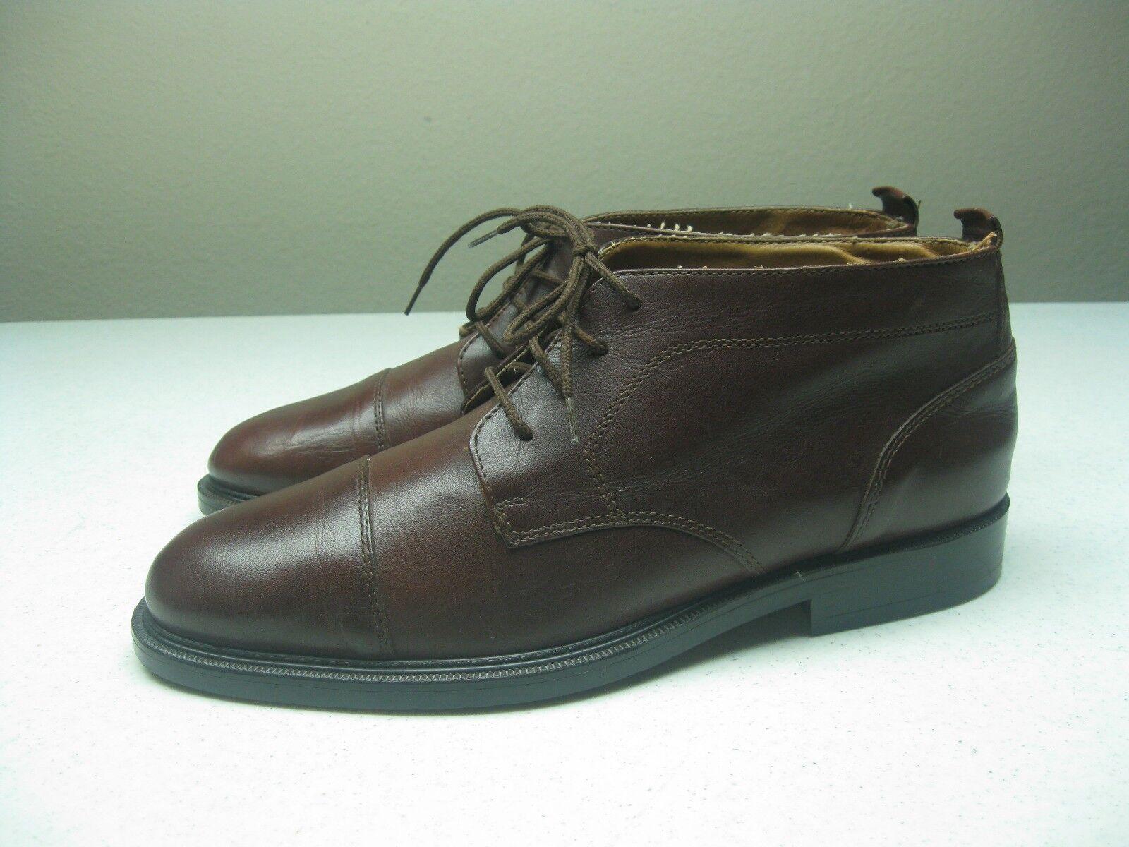 Vintage  GENERRA COLLECTION LEATHER DESIGNER Dress Casual CHUKKA BOOTS uomo 9 D Scarpe classiche da uomo