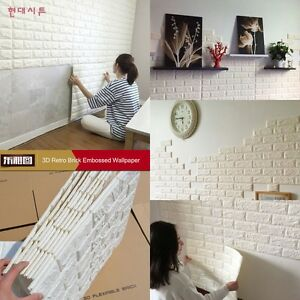 Image Is Loading 3D Brick Pattern Wallpaper Bedroom Living Room Modern