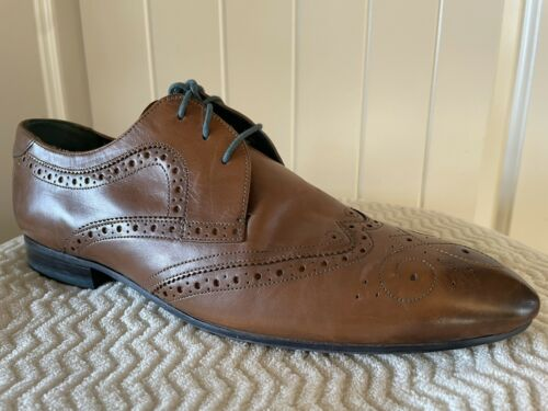 Ted Baker London Vineey Brogue Derby Brown Leather