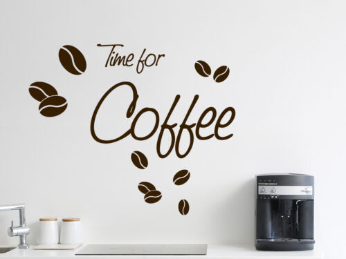 """S239 Wall Tattoo /""""Time for coffee/"""" Coffee Cafe Kitchen"""