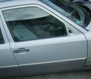 Mercedes-W124-S124-Tuer-Fahrertuer-Vorne-Rechts-VR-744-Silber-Mopf