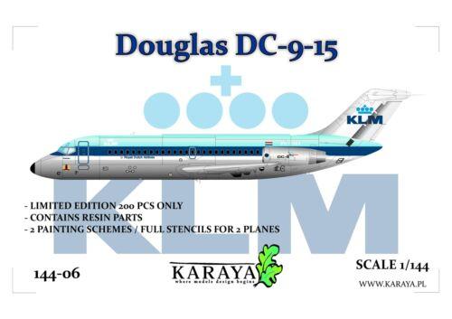 KARAYA 1//144 DC-9-15 KLM plastic kit