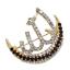 Islam Muslim Arabic Allah Scarf Hijab Crystal Rhinestone Wedding Pin Brooch