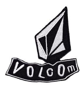 new volcom logo symbol black white embroidered sew iron on patch rh ebay com volcom login volcom logan bikini