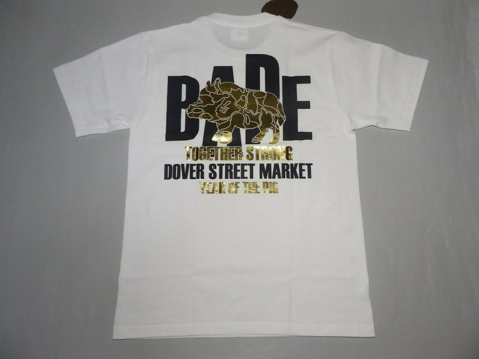 19869 bape year of the boar DSMG white tee M