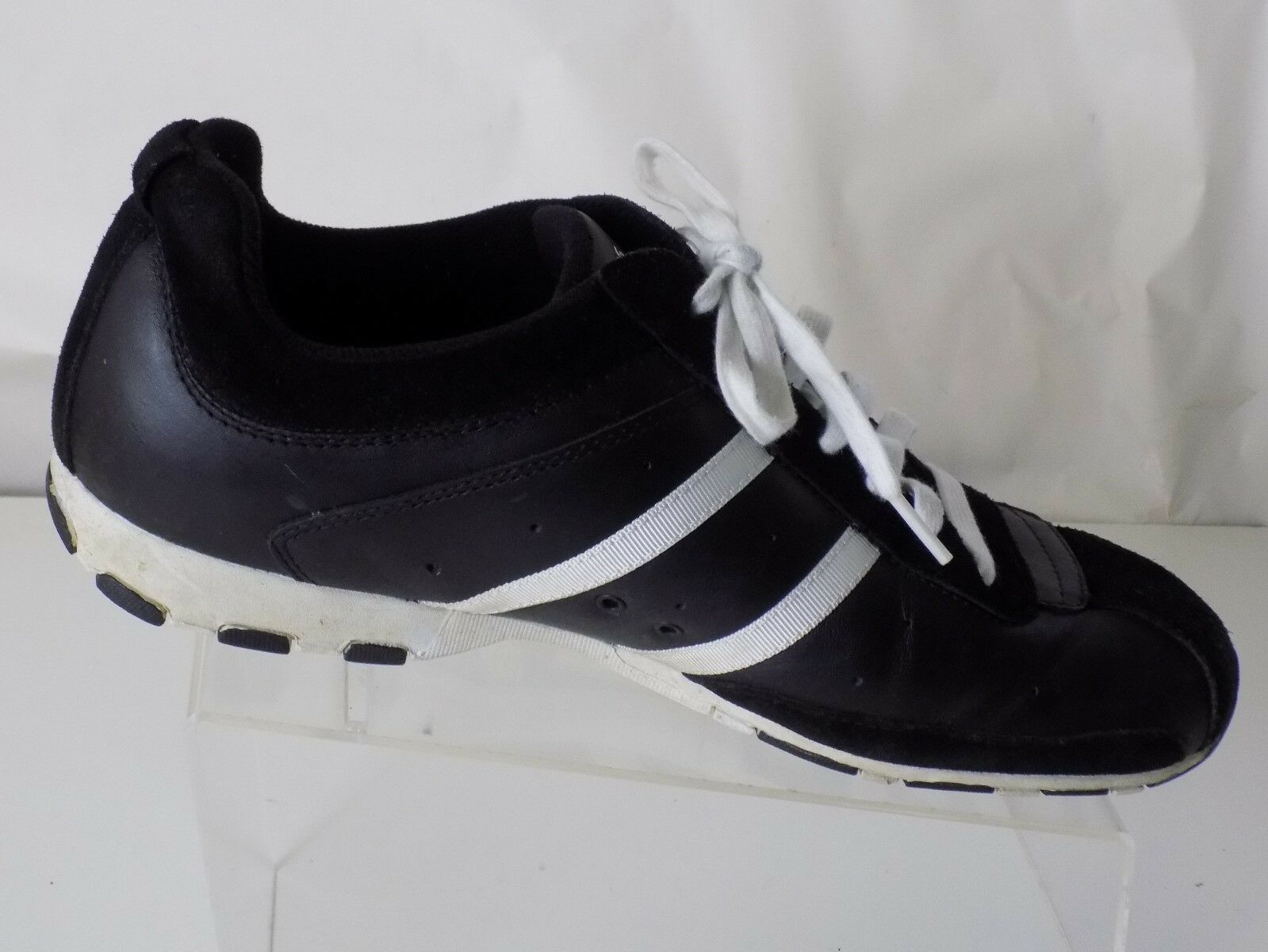 SKECHERS, LEATHER & ATHLETIC SUEDE, BLACK & WHITE, ATHLETIC & SHOES, MENS SIZE 11 15bef5