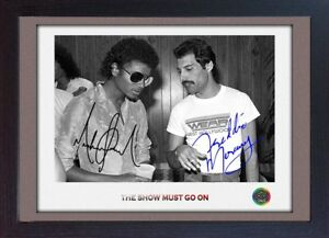 Freddie-Mercury-Queen-Michael-Jackson-signed-photo-autograph-Music-FRAMED