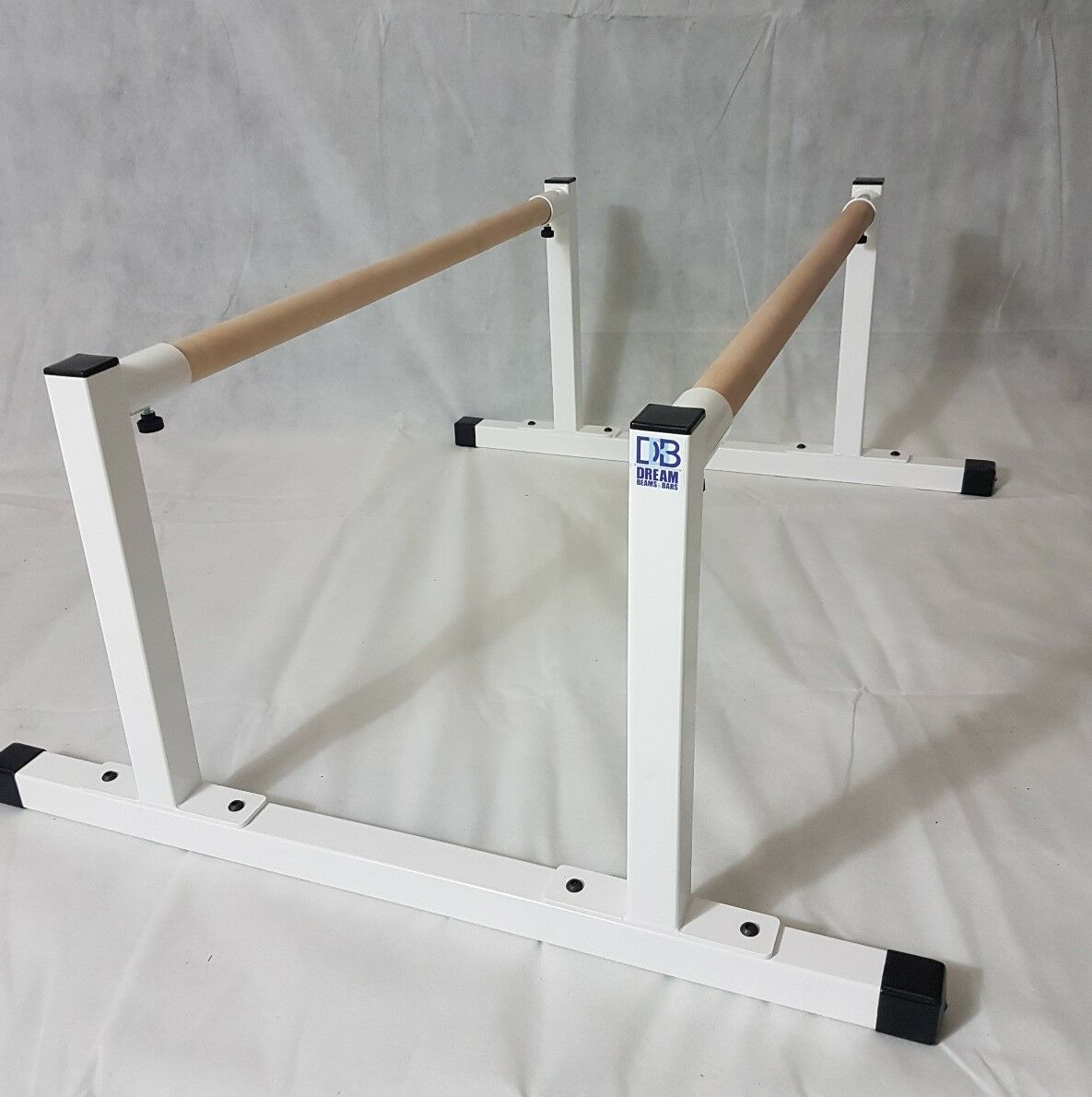 Mini parallel bars. Gymnastics calisthenics fitness. New