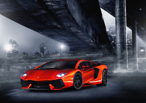 Art Lamborghini Super Car Poster