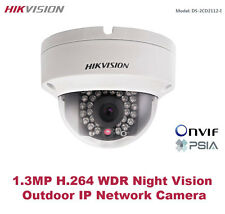 HIKVISION 1.3MP HD Vandalproof Outdoor IP Dome Camera -DWDR/IR Night Vision/PoE