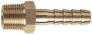 1/4 Bsp X 3/8 = 10 mm  Brass Hose tail x 1                             b147 5055752927636