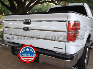 09-14-F-150-Chrome-Tailgate-Insert-Trim-Molding-Indent-Groove-Stainless-Steel