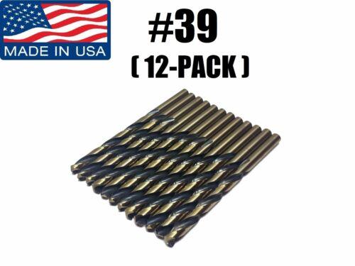 Number #39 92230 Norseman Viking USA Drill Bit Super Premium Jobber 12-PACK
