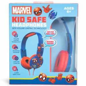 Marvel-Spider-Man-Kid-Safe-Headphones-Volume-Limiting-Adjustable-Over-Ear-NEW