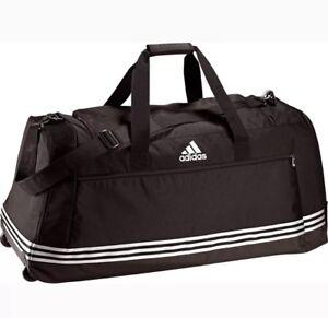 4d2ef1648d74f Das Bild wird geladen adidas-Trolley-Sporttasche-XL -mit-Rollen-Reisetasche-Tasche-