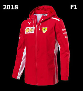 FERRARI-SCUDERIA-MENS-F1-RACING-RAIN-JACKET-WOVEN-BY-PUMA-762365-01-MSRP-225-SZ