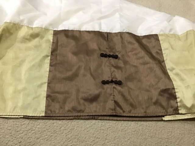 "CROSCILL ST.JAMES KING BEDSKIRT BROWN AMETHYST GOLD 14/"" DROP COTTON BLEND"