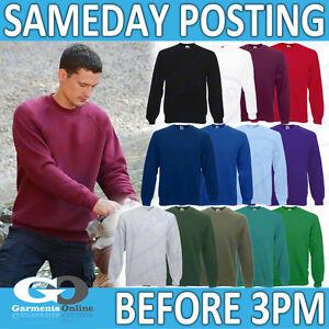 FOTL-raglan-Sweat-shirt-PLAINE-BLANCHE-HOMMES-ADULTE-PULL-TRAVAIL-ecole-62216