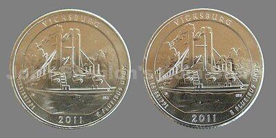 10 coin Set 2011 P/&D BU National Parks Quarters