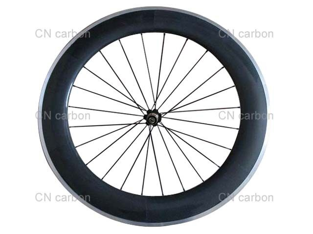 Aluminium brake surface 80mm Clincher carbon rear wheel  only  choose your favorite