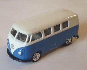 Modellauto-VW-Bus-Bulli-T1-1963-blau-WELLY-1-60-NEU-OVP-Spielzeugauto