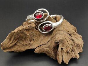 Pulsera-Zamak-alta-calidad-piedra-cristal-ROJO-bisuteria-pulseras-ajustable