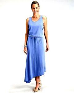 FRESH PRODUCE Medium Luna Blue ARIA Long Stretch Maxi Dress $75 NWT NEW M