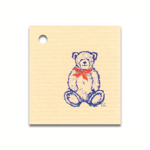 50 SMALL*TEDDY BEAR* HANG TAGS /& STRINGS PRICE COUNTRY CRAFTS GIFT FOLK ART