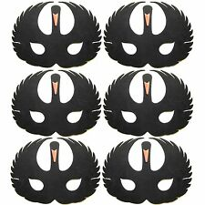 6 Foam Black Swan Masks - Fancy Dress For Children & Grown Ups