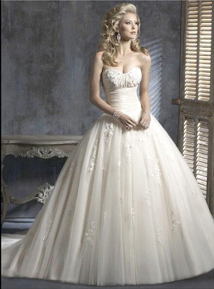 Maggie Sottero Wedding Dress Chardonnay Size 4 White NWT (BALL GOWN)