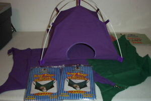 Image is loading Sheppard-&-Greene-Purple-Ferret-Tent-Toy-&- & Sheppard u0026 Greene Purple Ferret Tent Toy u0026 Purp/Green Cage ...