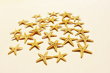 100//200 Pcs Mini Natural Flat Tan Starfish Seashells Beach Wedding Party Decor C